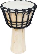 vidaXL Djembetrumma med spänningsrep 25 cm naturligt skinn