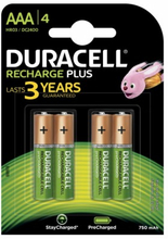 Duracell AAA Recharge Plus 4 kpl