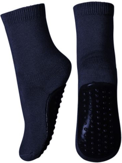 MP antiskli tøfler/sokker til barn i ull, marineblå