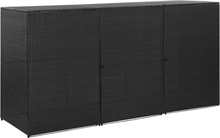 vidaXL Trippelt skjul för soptunnor svart 229x78x120 cm konstrotting