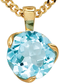 585 /-g-blå topas hänge hängen Blautopaz Topaz topas hänge 14 k guld