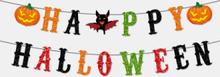 1 Set Halloween Pull Flag Schere Banner Party Dekoration Spinne Kürbis Fledermaus Hut Geistermuster Festival Ornamente