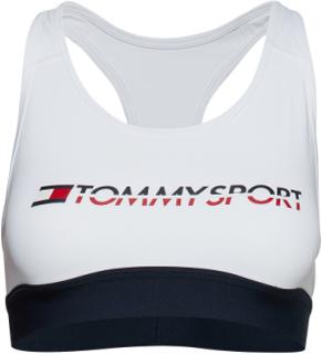 Sports Bra Medium Tri Logo Lingerie Bras & Tops Sports Bras - ALL Hvid Tommy Sport