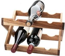 Vinställ akacia för 6 flaskor