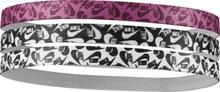 Nike Printed Headb 3pk Träningstillbehör WHITE/BLACK/RUSH P