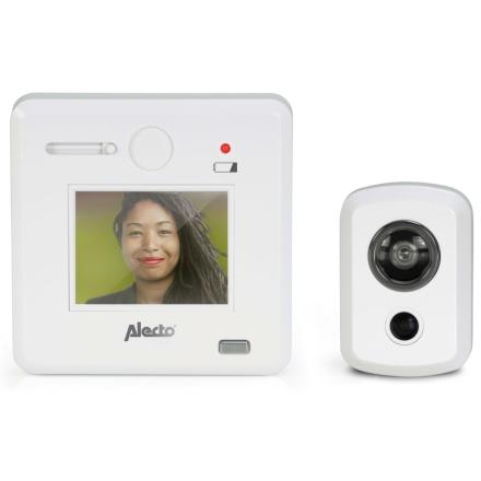 """Alecto digital dørspion med 2,4"""" display DC-700 hvid"""