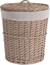 Large Wicker Weave Storage Basket with Lid Dirty Clothes Toy Basket Laundry Basket Hand-Knitted Art