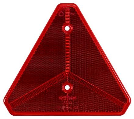 Trekantig röd reflex