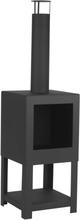 Esschert Design udendørs pejs med brændestativ sort FF410