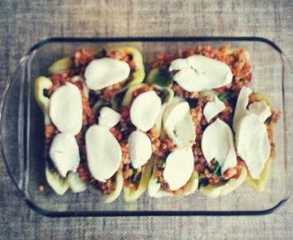 recipe: zapiekanka makaronowa z mięsem mielonym i pieczarkami [33]