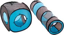 Kattetunnel Connect 2i1 - 1 sæt (1 tunnel + 1 terning)