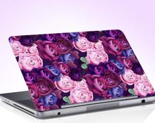 Laptop sticker rozen paars