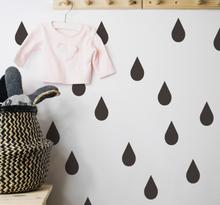 Kinderkamer muursticker regendruppels