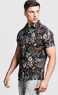 Dragon Print Short Sleeve Shirt