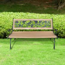 vidaXL Trädgårdsbänk 122 cm trä