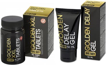 Big Boy Golden XXL tabs+gel Penisförstorare