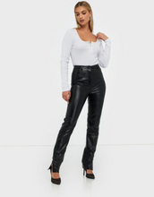 Missguided Co Ord Side Split Faux Leather Trouser