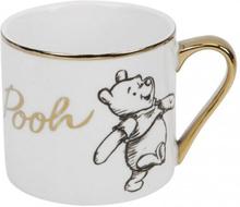 Winnie The Pooh - Winnie -Kopp - hvit, gull
