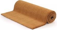vidaXL Dörrmatta kokosfiber 17 mm 100x100 cm naturlig