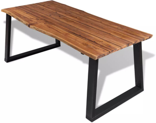 vidaXL Spisebord heltre akasie 180x90 cm
