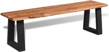 vidaXL Bänk massivt akaciaträ 145 cm