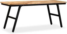 vidaXL Bänk återvunnet teakträ och stål 110x35x45 cm