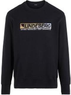 J.LINDEBERG Hurl Crew Neck Sweater Mænd Sort