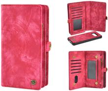 Plånboksfodral/väska till Samsung S9 med 10 kort Cerise