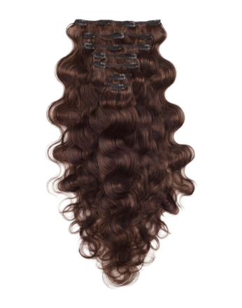 Hair Extensions - Chocolate Brown Rapunzel Of Sweden Clip-On Set Body Wave 60cm