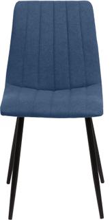 Elina matstol i Blå med Svarta metall ben