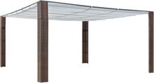 vidaXL Paviljong med tak konstrotting 400x400x200cm brun och gräddvit