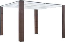 vidaXL Paviljong med tak konstrotting 300x300x200 cm brun och gräddvit