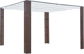 vidaXL Paviljong med tak konstrotting 300x300x200cm brun och gräddvit