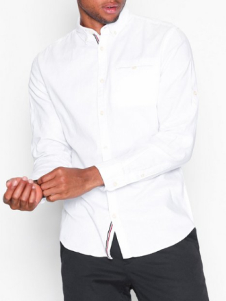 Jack & Jones Jorgreg Shirt Ls One Pocket Kauluspaidat Valkoinen