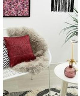 Bloomingville röd kudde med frans L40xB40cm - Flerfärgad