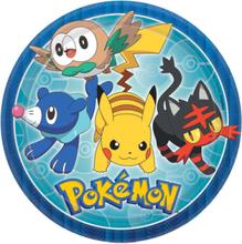 8 stk Papptallerkener 23 cm - Pokémon Fest