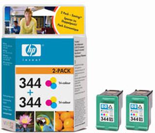 HP bläckpatron 2-pack 344 trefärg (C9505EE)