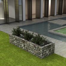 vidaXL Planteringsgabion stål 270x90x50 cm