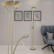 vidaXL Dimbar LED Golvlampa 23 W Guld