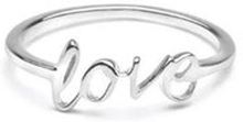 Snap Ring Love Silver