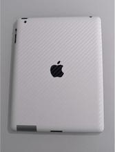 Tech of sweden Carbon Fiber Leather iPad 2,3,4 Fungerer med smart deksel (hvit)