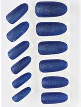 12 stk Lösnaglar med Glitter - Blå