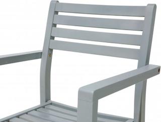 Trädgårdsstol 2 st grå MATERA
