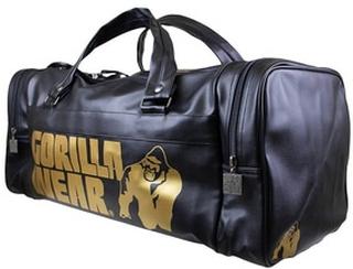 Gorilla Wear Gym Bag Gold Edition, black/gold, Gorilla Wear Vesker