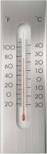 Nature udendørs vægtermometer aluminium 7 x 1 x 23 cm
