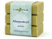 Aleppotvål med doft - 4% lagerbärsolja, 3 x 125 g, Jasmin