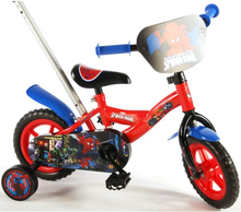Volare Spiderman - 10 Inch Bicycle With Push Bar