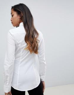 Langærmet skjorte fra ASOS DESIGN Petite-Hvid