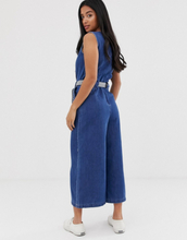 Only Petite crop denim jumpsuit-Blue