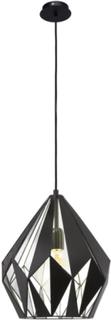 Eglo taklampa carlton 1 svart silver 49255